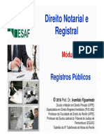Curso Direito Notarial ESAF 2016 Módulo 4 Registros Públicos