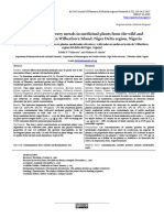Determination of heavy metals in medicinal plants from the wild and cultivated garden in Wilberforce Island, Niger Delta region, Nigeria