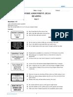KET Practice Test Readign & Writing