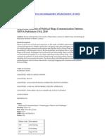 Hyperlink Analysis of Political Blogs Communication Patterns by Kostas Zafiropoulos and Vasiliki Vrana. NOVA Publishers USA, 2010