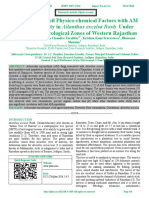Correlation of Soil Physico-chemical Factors with AM Fungal Diversity in Ailanthus excelsa Roxb. Under Different Agroecological Zones of Western Rajasthan
