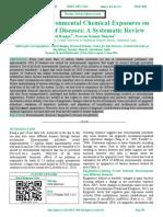 Effect of Environmental Chemical Exposures on Epigenetics of Diseases