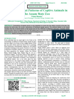 Study of Habitat Patterns of Captive Animals in the Assam State Zoo
