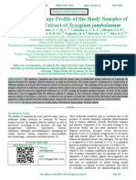 Electrically Voltage Profile of the Study Samples of an Aqueous Extract of Syzygium jambolanum