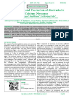 Formulation and Evaluation of Atorvastatin                 Calcium Niosomes