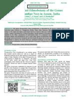 Diversity and Ethnobotany of the Genus                       Phlogacanthus Nees in Assam, India