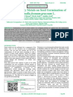Effect of Heavy Metals on Seed Germination of Trigonella foenum-graceum L.