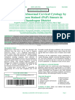 Detection of Abnormal Cervical Cytology by          Papanicolaou Stained (PAP) Smears in                      Chandrapur District