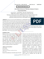 Anticonvulsant Activity of Root Extracts of Valeriana Jatamansii Linn in Experimental Rats