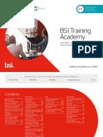 Uk Bsi Training Course Schedule