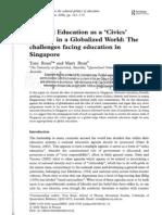 Rel Ne as Civics Literacy