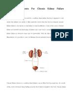 Top Treatments for Chronic Kidney Failure