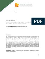 Lugar Epistemológico Del Sistema Diagnóstico-terapéutico (Paula Martinez)