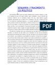 WALTER BENJAMIN Fragmento Teológico Político