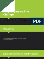 Why Organizations Change