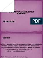 Curs 17 - Cefalee