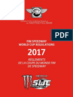 Fim Speedway World Cup Regulations 2017