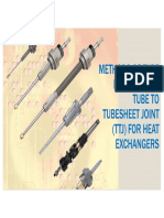 Methods of Tube Expansion in Tube to Tub