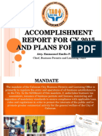 Ppt - Accomplishment Report 2014 and Plans for Cy 2015