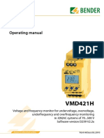 Voltage Relay VMD421H - Operating Manual