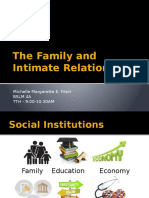Social Institutions - 1. the Family and Intimate Relationships