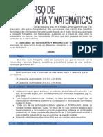 Concurso Fotografía y Matemáticas
