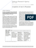 Lalu, Petteri - On war and perception of war in russian thinking