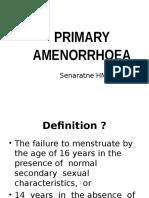 Primary Amenorrhoea 2