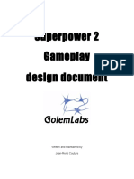 Superpower2 Gameplay Design Document - V1.1a