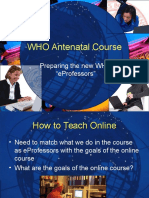 Who Antenatal Course Pp t