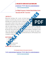 Analysis and Design of High Frequency Isolated Dual-Bridge Series Resonant DC DC Converter