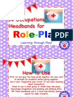 Occupations Headbands for Role Play