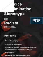 PPT on Prejudice and Sterotypes - Unit 2 Part 2