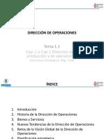 1.1 Dirección de Operaciones