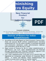 Diminishing Micro Equity for Indian Economy