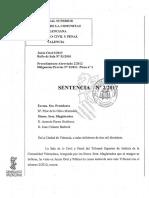 Fallo del Tribunal Superior de Justicia de la Comunitat Valenciana