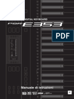 Yamaha PSR-E353 - Manuale Di Istruzioni