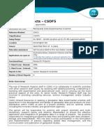 Geospatial Data Experiemntal Scientist 29621 PD