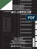 Yamaha PSR-E353 - Manual de Instrucciones