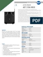 En_ART_310-A MKIII Spec Sheet