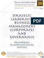 """""""Development and advancement know how, skills and technology for strategic leadership, business management (corporate) governance)"""