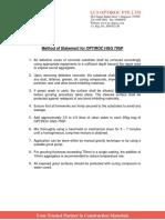 Method of Statement for OPTIROC HGG 70SP
