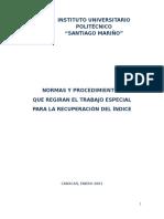 Normas y Procedimientos Que Regirán El t.r.i.a. 2001 Iupsm