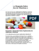 Perguntas e Resposta Sobre Suplementos de Vitaminas e Minerais