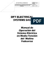 Manual de Operacion Sistema Electrico en Media Tension Molino Federarroz, Pore Casanare. (1)