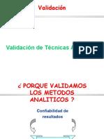 Validaciones de Tecnicas Analiticas
