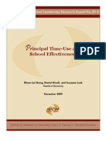 Principal Time-Use and Effectiveness