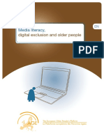 Media literacy, digital exclusion and older people