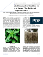 Study on Chemical Treatments of Jute Fiber for Application in Natural