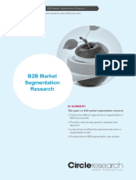 B2B Market Segmentation Research